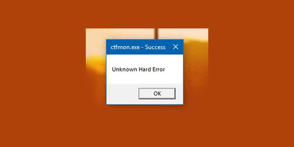 رفع ارورر Unknown Hard Error