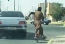 فیلم تعقیب و گریز پلیسی در جیرفت